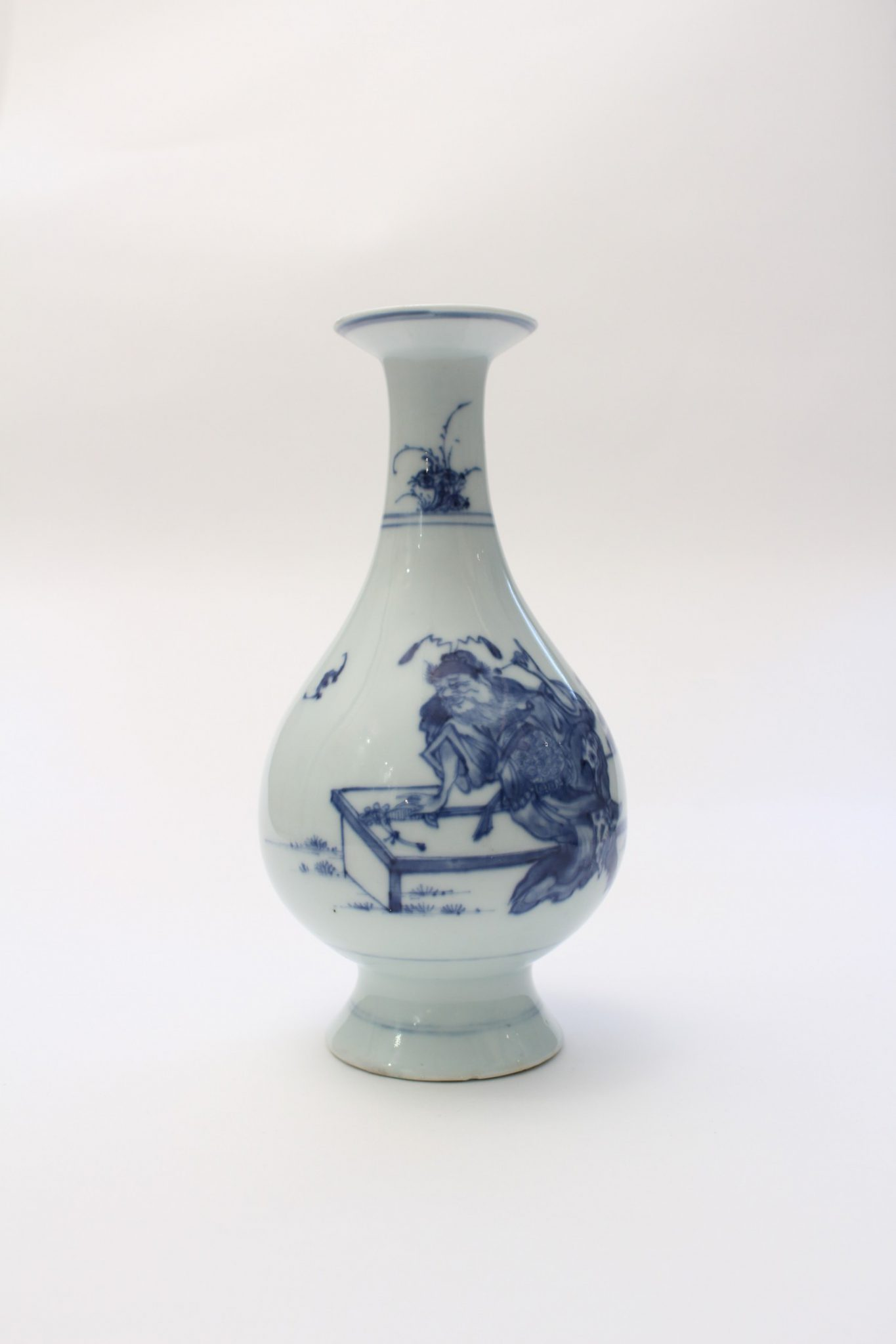 A Small Blue And White Vase Yongzheng Mark Period