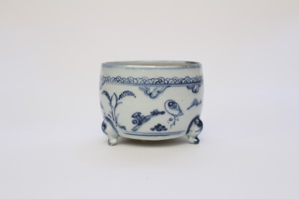 A small blue and and white censer