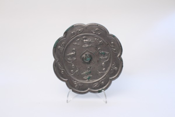 A silvery bronze mirror