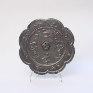 A silvery bronze mirror
