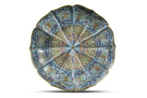 A cloisonné enamel 'lotus' dish