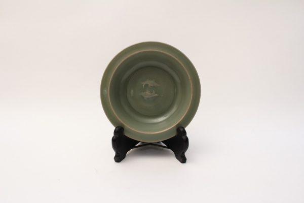 A small 'Longquan' celadon double-fish dish