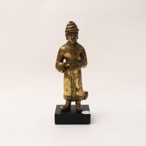 A gilt-bronze figure of a foreigner