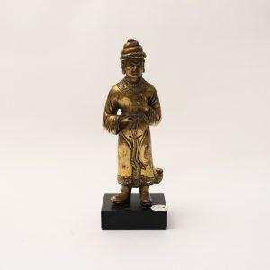 A gilt-bronze figure of a foreigner