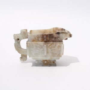 An archaistic jade ritual pouring vessel