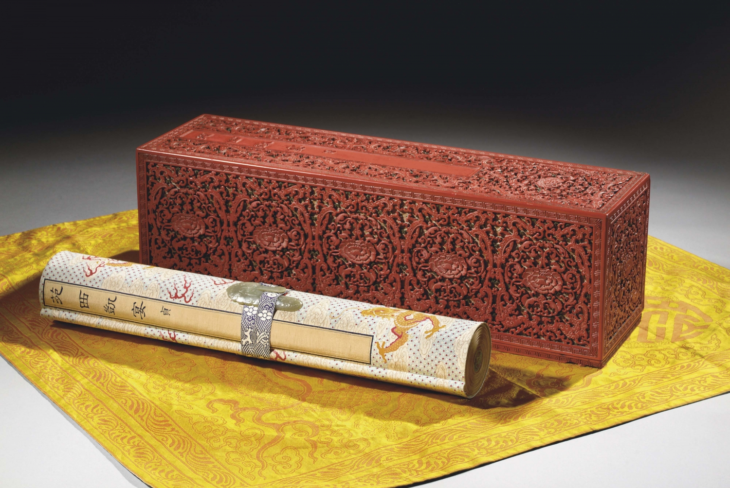 An important imperial scroll (Qianlong)