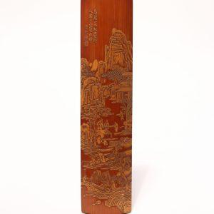 A bamboo 'Liuqing' wrist rest, signed Li Qiu