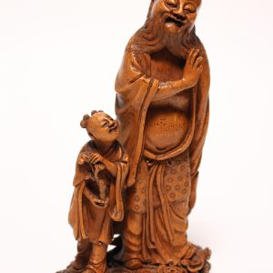 A bamboo-root 'immortal and child' group