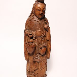 A carved bamboo-root figure