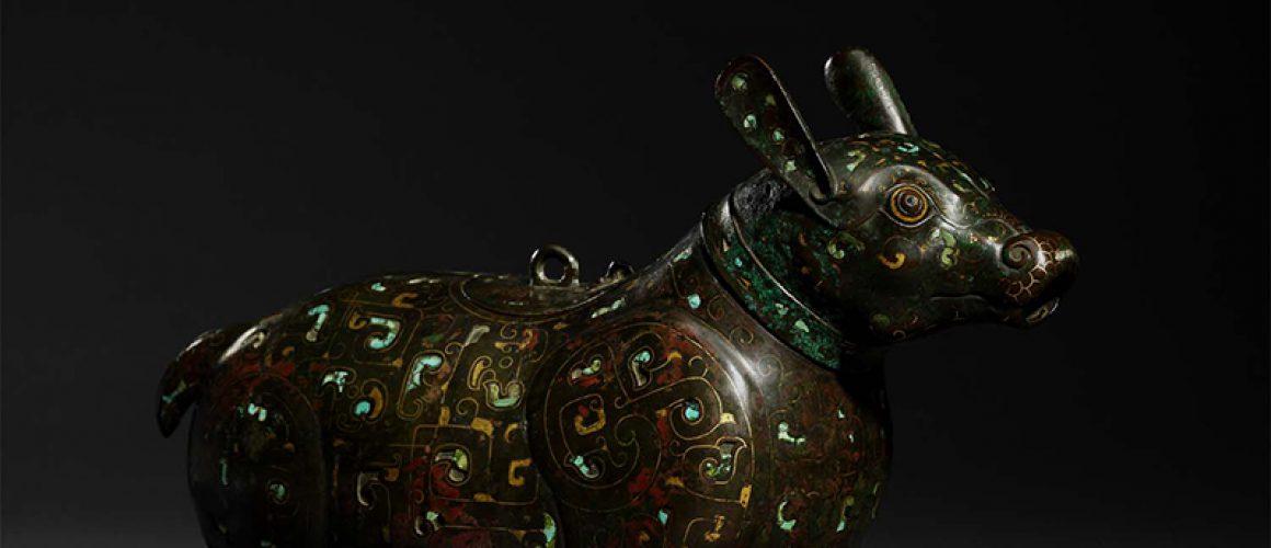 'Warring States' inlaid bronze 'Tapir'