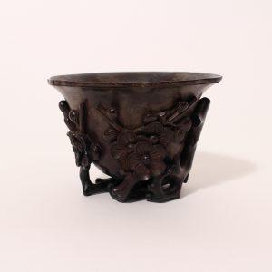 A large 'Zitan' libation cup