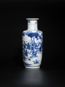 A blue and white 'boys' vase (Kangxi period) - Height 25.5 cm