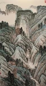 Qu Lei Lei 'Tranquility' (2005) 128 x 68cm 曲磊磊 《宁静》