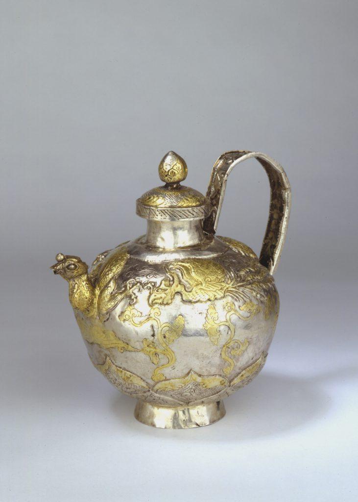 A gilt-silver ewer